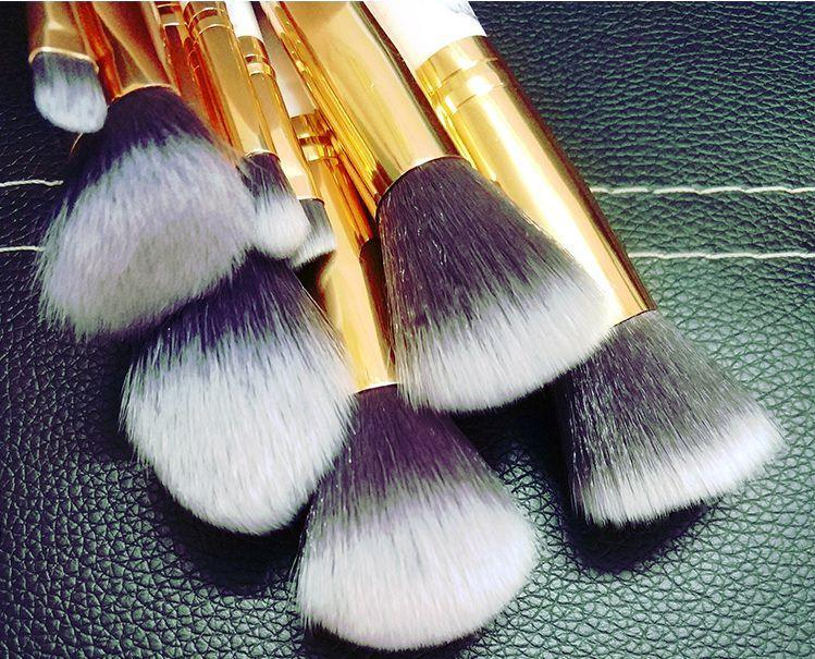 itGirl Shop WHITE MARBLE MAKEUP BRUSHES TOOLS 10 SET