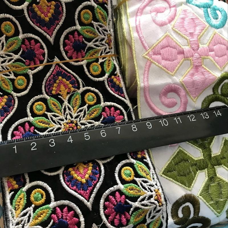 478936102 1 Yard Vintage Ethnic Embroidery Lace Ribbon Boho Lace Trim DIY Clothes Bag  Accessories Embroidered Fabric