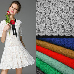 150*150cm Handmade Embroidered Flower Lace Fabric For Wedding Dress Eyelash Lace Fabric Clothing Sewing Accessories