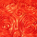 1Yard 3D Satin Rose Lace Fabric Embroidered,Width130cm,Apparel Sewing Tissue for Skirt,Wedding Photography Background Bed Cloth