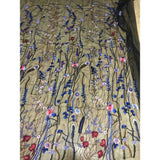 1Yard Width 130cm  Embroidery Mesh Net Fabric African Lace Flower Sew Beach Skirt Dress Clothes Apparel Sewing & Fabric