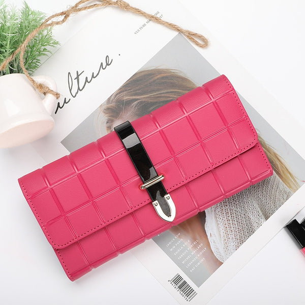 201 new wallet fashion clutch joker diamond ladies long leather purse wholesale women's wallet