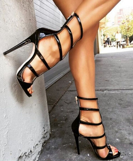 4e7a50b2f8e6 ... 2015 Hottest Selling Women Sandals Open Toe Cut-outs Sexy High Heels  Gladiator Sandals Women ...