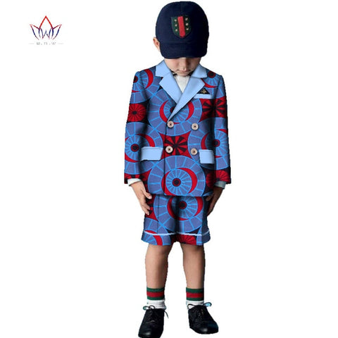 2017 African Clothing two pieces Dashiki Traditional spring boy clothes Matching  Africa Print a set short sleeve none  WYT233