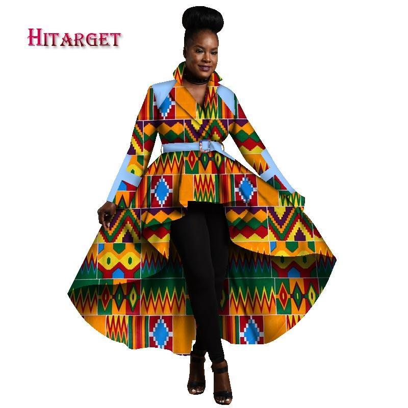 0c579613d96 ... 2017 Autumn African Trench Coat for Women African Tops Clothing Africa  Print Outfits Dashiki Office Outwear ...