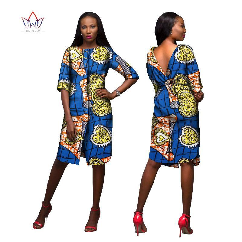 c33281c2ede 2017 BRW African Women Clothing Newest Dashiki Fashion Bodycon Dress of  Summer Succinct Traditional Print V. Hover to zoom
