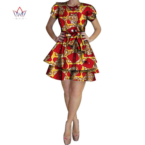 2017 Dashiki Dress Brand African Dresses for Women Cotton Traditional African Clothing plus size african clothing cute WY1303