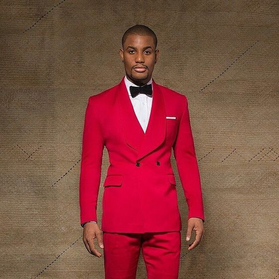 Latest Coat Pant Designs Red Wedding Suits for Men Slim Fit 2 Piece Groom  Tuxedo Custom ... a37a01cf2c94