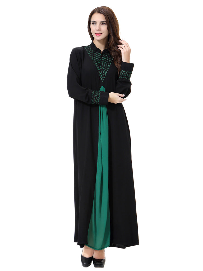... 2017 Plus Size Long sleves Abaya Muslim Dress Women new islamic  clothing Robes Arab Adult Clothes ... 638bb3b5b