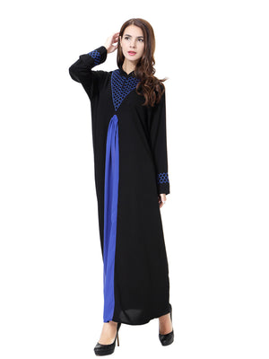 2e537732c187 ... 2017 Plus Size Long sleves Abaya Muslim Dress Women new islamic  clothing Robes Arab Adult Clothes