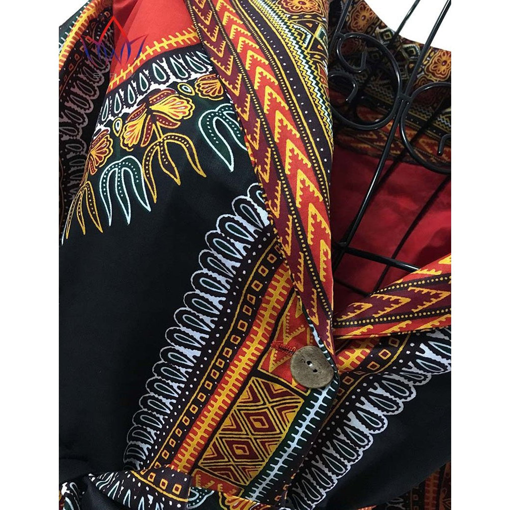 714bd24bcde ... 2017 Spring Jacket Blouse African Wax Print Clothes Brand Dashiki for Women  Plus Size Name Factory ...