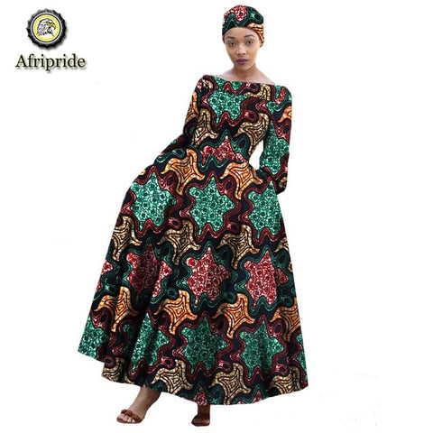 2018~2019 African dress for women dashiki pure cotton ankara print spring  African fabric AFRIPRIDE bazin riche wax S1825006