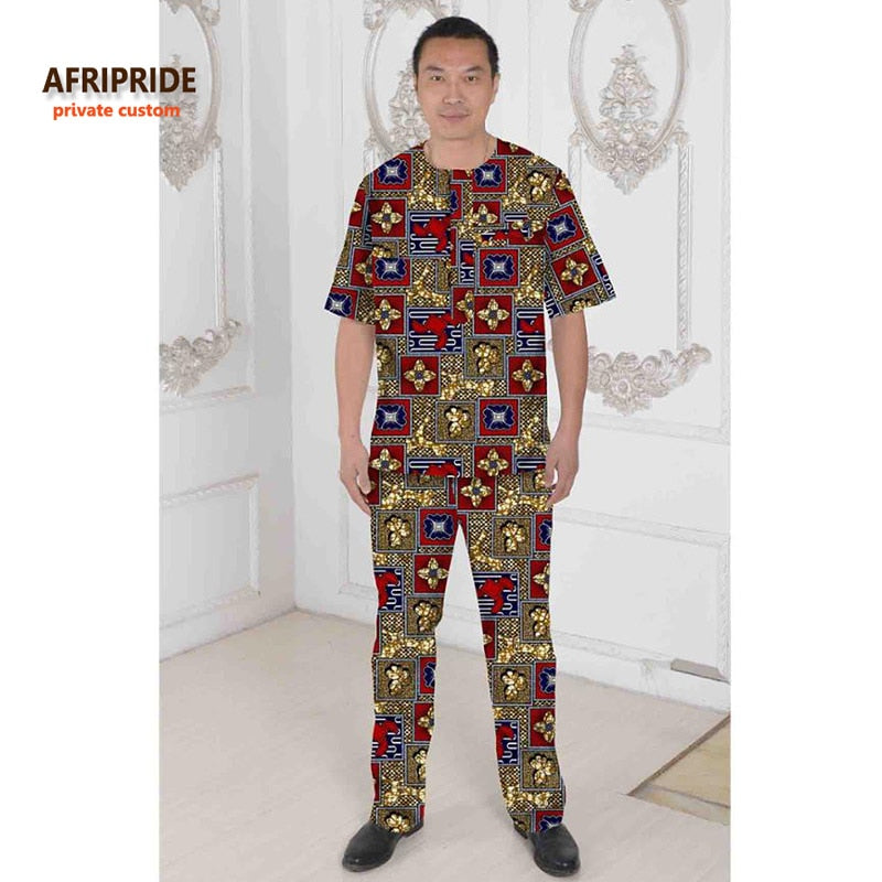 6a746d83717 2018 AFRIPRIDE Private Custom african clothes for men wax pure ...