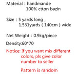 2018 African 100% Cotton Handmade Bazin Riche Getzner Lace 5 pieces/ Bag Damask Shadda Guinea Brocade Fabric for Men Cloth AB66