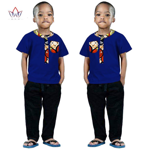 2018 African Clothing kids dashiki Traditional cotton shirt  Matching  Africa Print Children top baby clothes cotton BRW WYt63