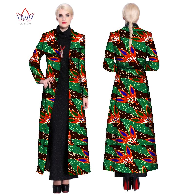 d73266007ba 2018 African Fashion Autumn Plus Size Women Trench Coat Traditional ...