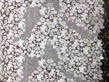 2018 African Lace Fabrics New beads Selling High Quality Tulle Lace French Net Fabric for white Wedding Beaded lace Fabric BS01