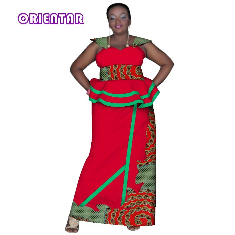 72e73d5b891 2018 African Skirt Sets for Women Dashiki Bazin Riche 2 Pieces Sets African  Traditional Clothing Plus. Hover to zoom