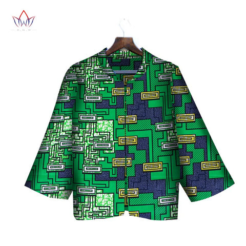 2018 African Wax Print Jacket for Boys Dashiki Full Sleeve Notched Plus Size 6xl African Cotton Jacket Coat WY2017