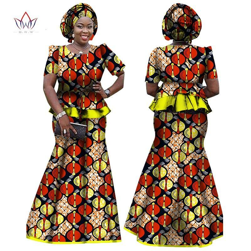 2b24814013e ... 2018 African Women Clothing Brand African Vestido 6XL Wax traditional african  clothing 2 pieces for Women ...