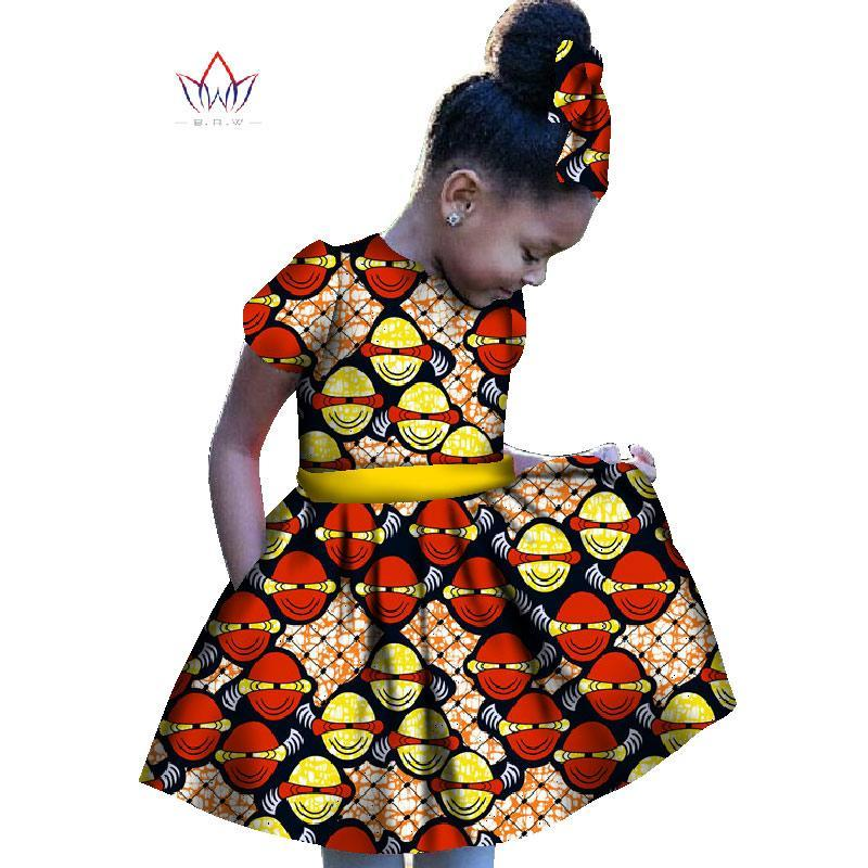 e5f6b9f885e51 2018 African Women Clothing kids dashiki Traditional cotton Dresses  Matching Africa Print girl Dress Summer cotton BRW WY1201