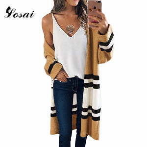 6f7e5add2d93a6 2018 Autumn Winter Sweaters Fashion Women Long Sleeve Loose Knitting  Cardigan Lady Sweater Knitted Female Cardigan ...