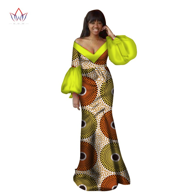 89606907a900 2018 Autumn traditional african clothing dashiki floor-length ...