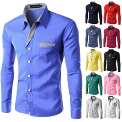 2018 Brand New Autumn Men Shirt Male Dress Shirts Men's Fashion Casual Long Sleeve Business Formal Shirt camisa social masculina