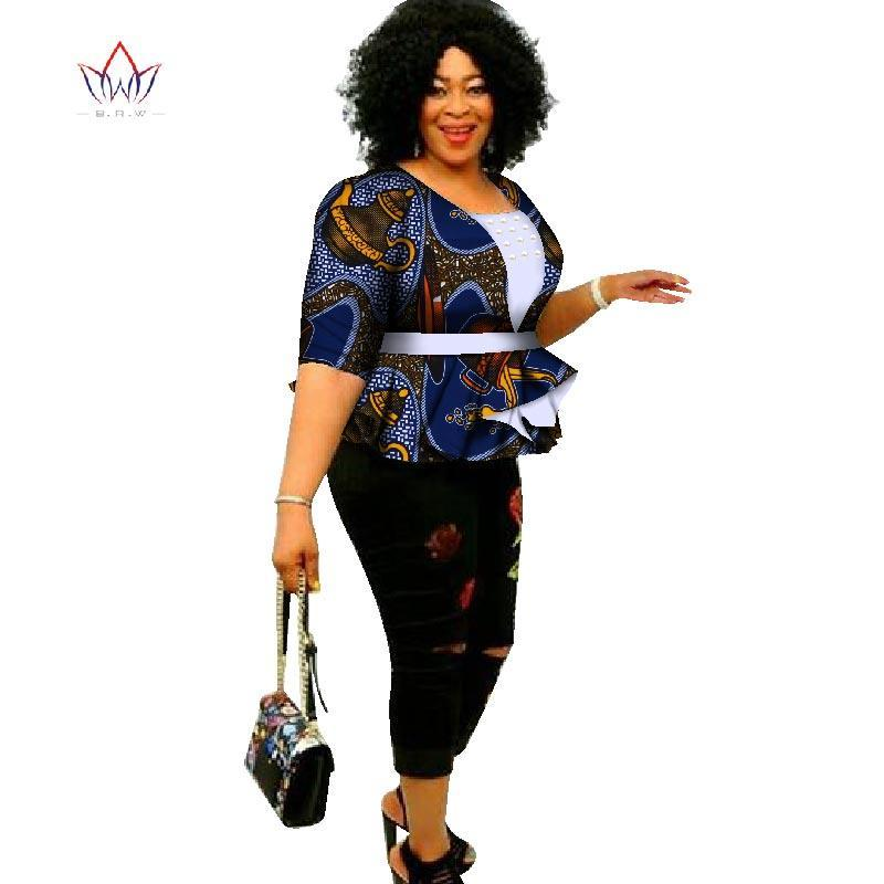 e4cd7095d84 2018 Dashiki African Print Tops Shirt for Women Africa Modern Style Bazin  Riche Tops Plus Size. Hover to zoom