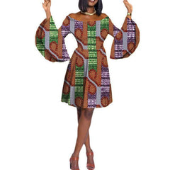 5a2c1ac9f78 2018 Fashion African Dresses for Women Dashiki Sunmmer Women Dress Sleeve  Knee-length Casual Dress ...