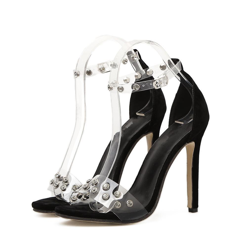 ... 2018 Fashion Women s High-heeled Shoes Sandals Buckle Strap Crystal  Party Shoes Transparent Woman Pumps ... 4139bcb5c714