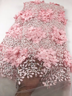 2018 Hottest Selling Nigerian French Net Lace Fabric Dubai Embroidered Velvet Tulle Lace Latest African Lace Fabrics  A727-8