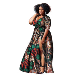 ... 2018 New African Dresses for Women Print Wax Bazin Plus Size African  Style Clothing Dashiki Deep fbb330a8999b