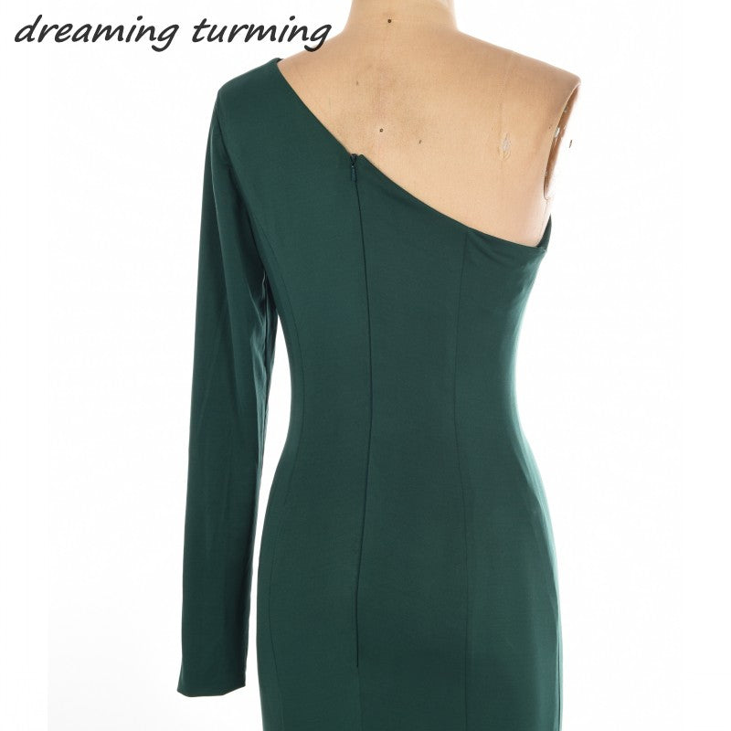 97d4ae0491a8 ... Emerald Evening Dresses With One Long Sleeves Morrocan Dubai African  Kaftan Women. Hover to zoom