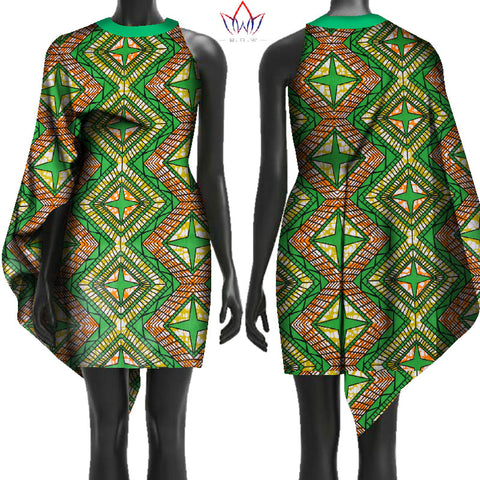 2018 New Autumn Free Shipping Africa Dresses for Women Bazin Sleeveless African Clothes Dashiki Sweet Dress for Girl WY2420