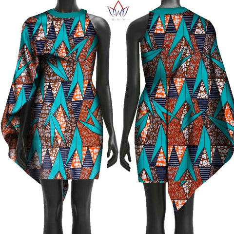 2018 New Autumn Free Shipping Africa Dresses for Women Bazin Sleeveless African Clothes Dashiki Sweet Dress for Girl WY2420 1