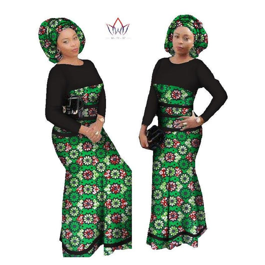 2018 New Design African Dress For Women Cotton Lace Print