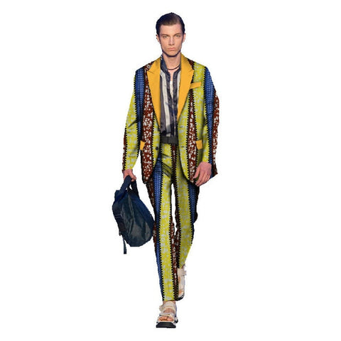 2018 Promotion African Clothing Time-limited Sale Cotton Men Robe Africaine Men's Suits Wax Printed Cloth