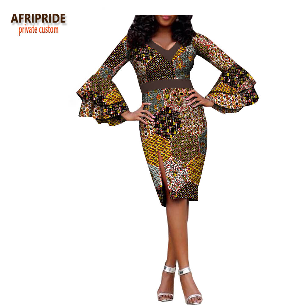ae5677056562 2018 SPRING fashional women pencil dress AFRIPRIDE double layers ...