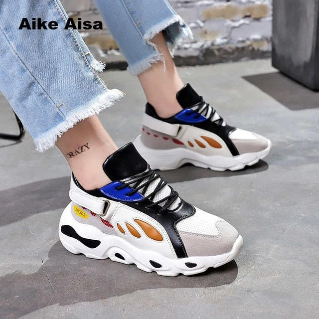 74b9dfee3bc ... 2018 Spring Autumn Women Casual Shoes Comfortable Platform Woman  Sneakers Ladies Trainers Chaussure Femme Platform Sneakers ...