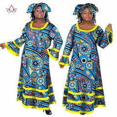 2018 Summer Bazin Dashiki African Dresses for Women Long Maxi Dress Private Custom Brand African Dresses for Women Africa WY434