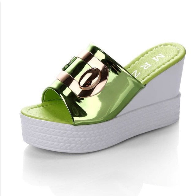 bf3083bc17df 2018 Summer New style Arrived Sexy Platform Wedges Sandals Women Fashion  High Heels Female Slippers a634. Hover to zoom
