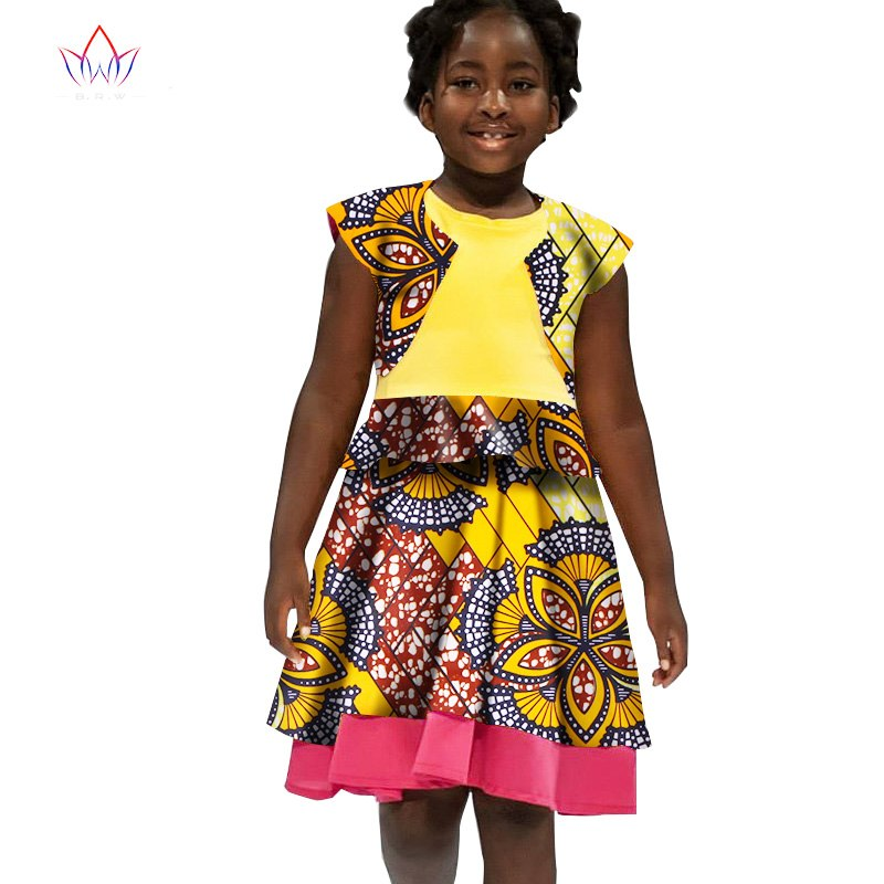 553454ec0c6 2018 Summer african clothes for girls dashiki african baby cute ...