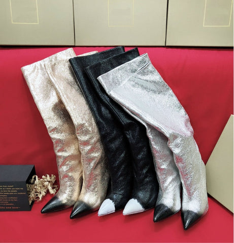 2018 Winter New Styles Fashion Design Knee-High Women Shoes, classics Boots good quality Genuine leather Boots Size 35#-41#