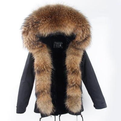 new style 75bd5 75283 2018 Winter Parka fur hood winter jacket women parkas natural real fur coat  for women thick soft lining abrigos de piel mujer 1