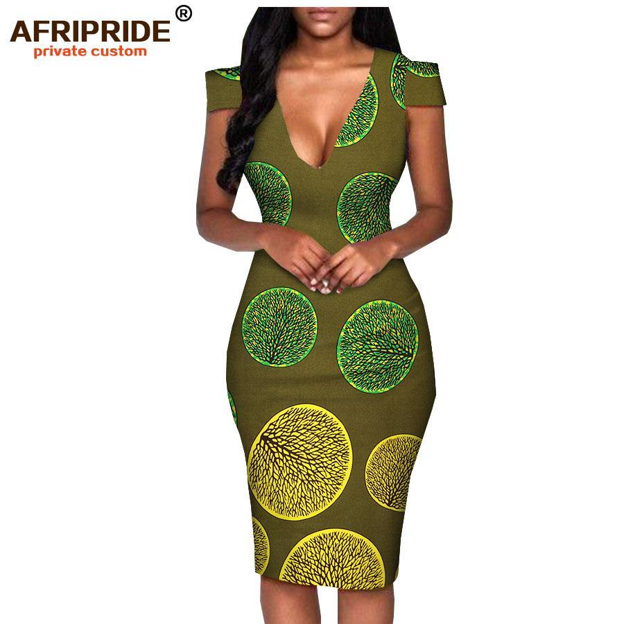 289a7e03715c ... 2018 africa summer dress for women AFRIPRIDE tailor made short sleeve  knee length casual women pencil ...