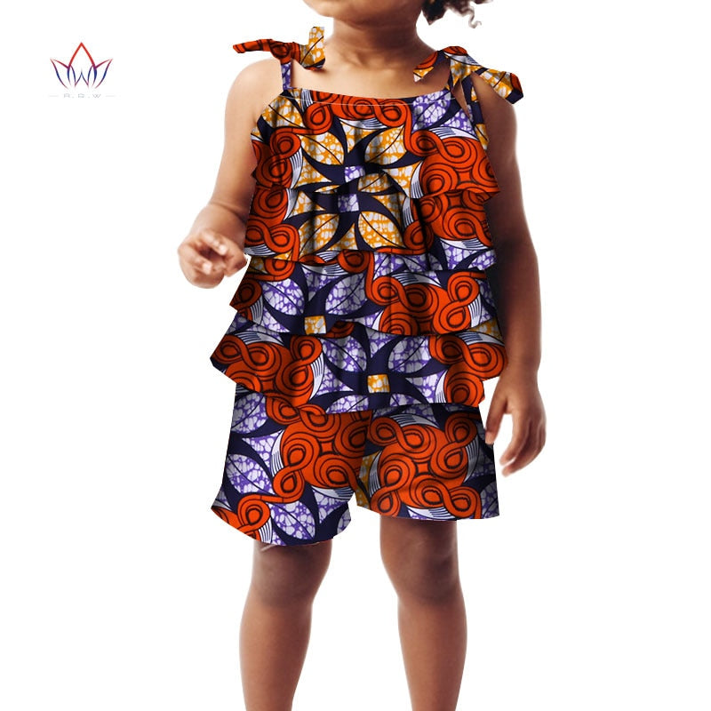 bf717b0f10 ... 2018 african clothing for childrenl kids dashiki Traditional cotton set Matching  Africa Print t Children Summer ...