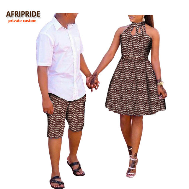 2018 African Summer Couple Casual Suit Afriprde Men S Knee Length