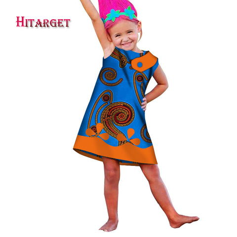 2018 autumn African Women Clothing kids dashiki Traditional cotton Dresses Clothing Matching Africa Print Children Dresses WYT17 1