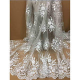 2018 high quality nigerian french lace embroidered tulle lace fabric for wedding dress,Russia African lace fabric 5yards/lot